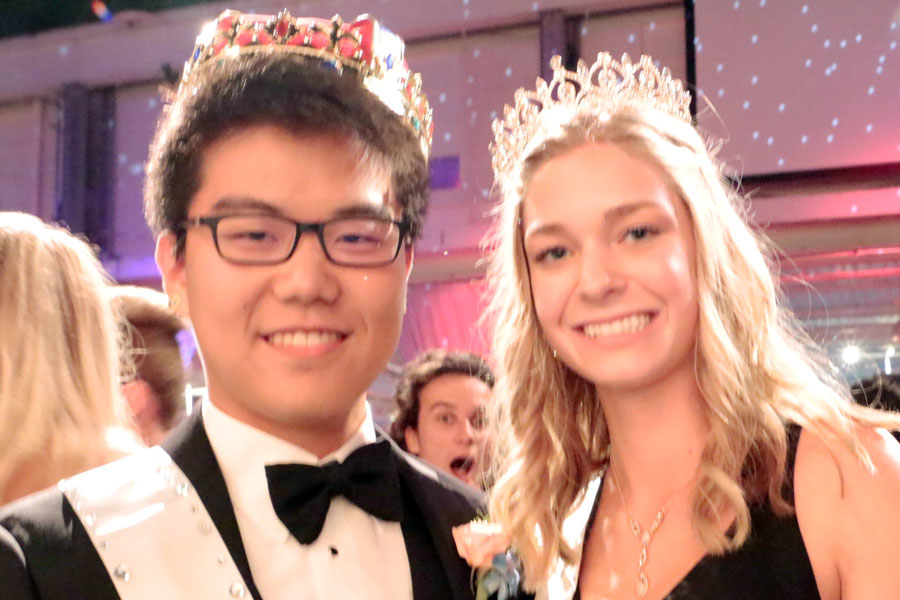 Juniors interested in planning this year's prom will meet Jan. 23 during flex. Last year, John Chai '19 and Rachel Leighton '18 were crowned king and queen.