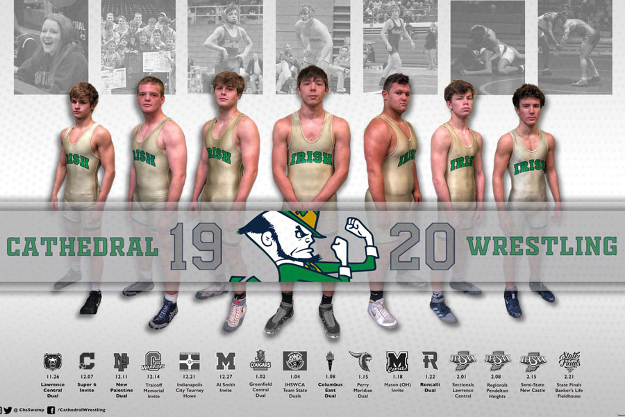 The+defending+State+champion+wrestling+team+competes+in+the+Semistate+on+Feb.+15+at+New+Castle.+