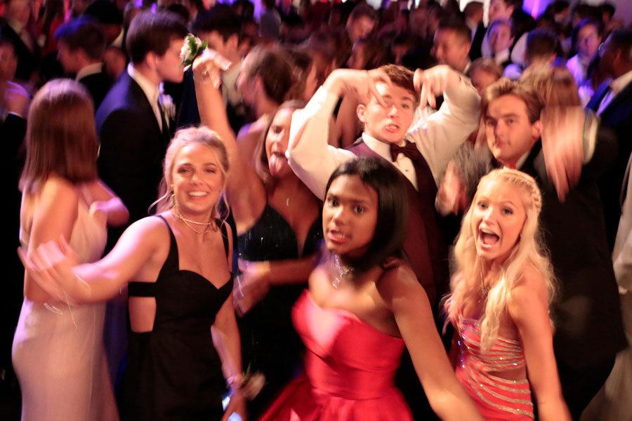 Prom goers hit the dance floor at last yea's event at  Crane Bay.