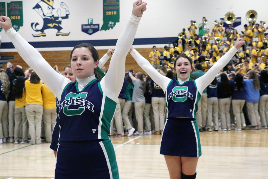 Tryouts for next year's cheerleading squads will be done through the submission of videos.