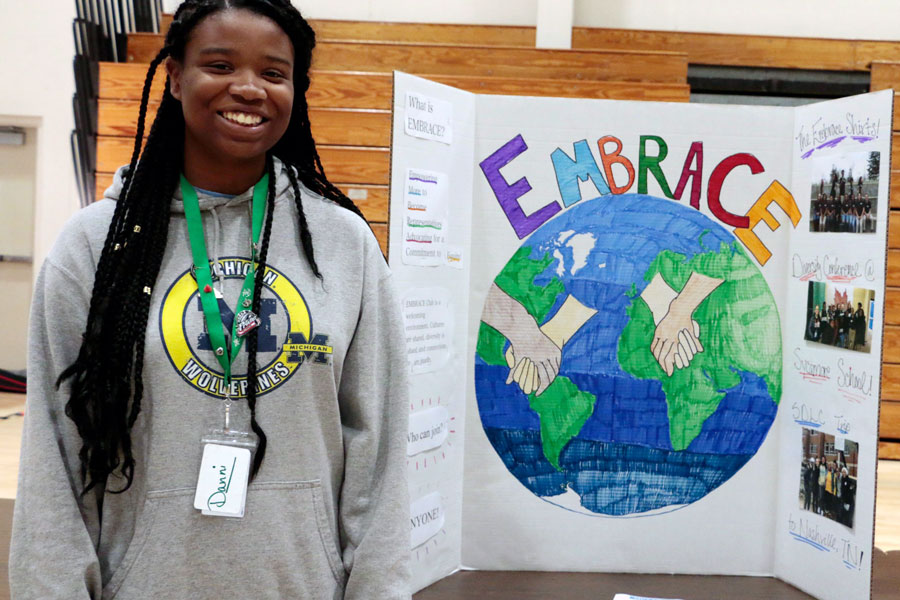 The EMBRACE Club was represented at last year's activities fair.