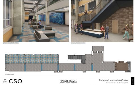 Images of the new innovation center, the construction on which started early due to the shutdown of the campus.