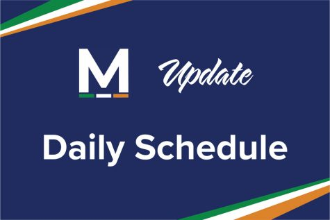 Special schedule in effect for May 12