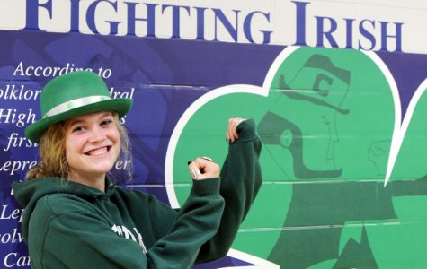 Senior Madi Keller will serve as this school year's leprechaun.