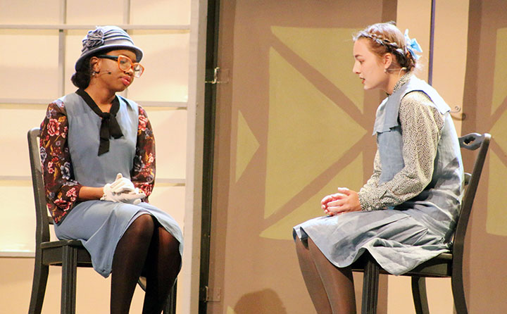 Student actors performed during last fall's dramatic production of
