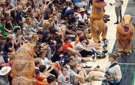 Last year, students crowded into the Welch Activity for the Homecoming assembly. That won't happen this year.