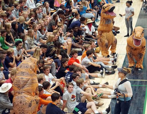 Last year, students crowded into the Welch Activity for the Homecoming assembly. That won