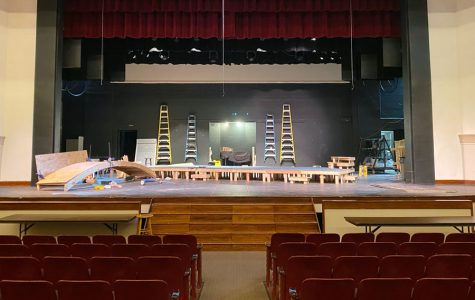 Just a few of these seats in the auditorium will be filled during the fall drama production in November. The play also will be live streamed.