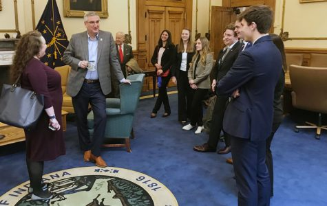 Last year's We the People team met with Gov. Eric Holcomb in his office.