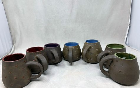Projects such as these finished by students enrolled in Mrs. Sara Greene's ceramics classes now will become work done by engineering students as part of a collaborative effort.