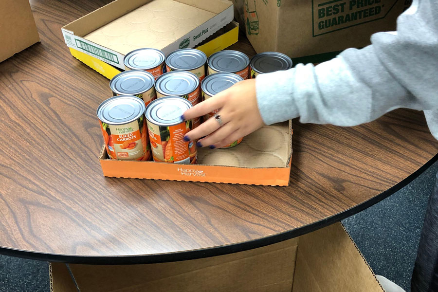 Math extra credit from the canned food drive that would have gone toward first semester finals now will be applied to second semester finals.