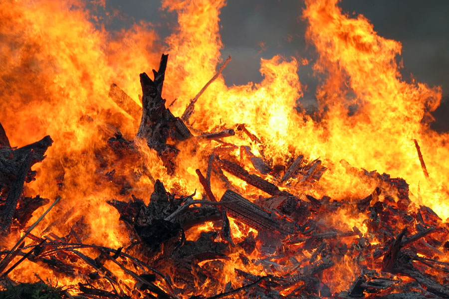 Seniors will gather on campus on Dec. 11 for a class bonfire.