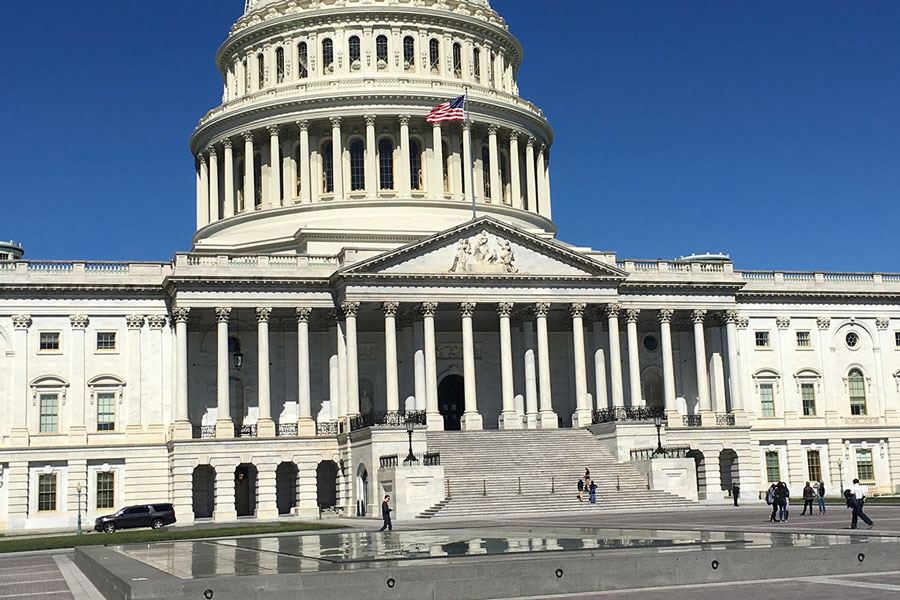 The+Capitol+in+Washington%2C+D.C.+was+the+site+of+riots+in+early+January.+