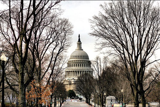 The United States Capitol serves as the site of presidential inauguration ceremonies every four years.