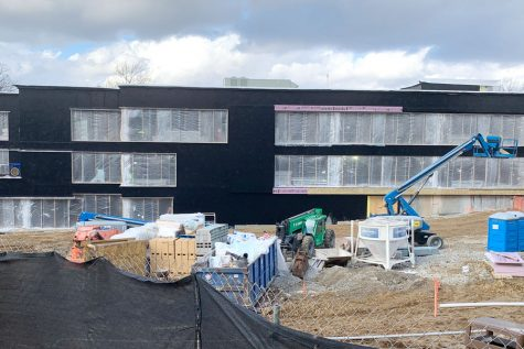 Construction continues on the new Innovation Center, which is scheduled to open in the fall.