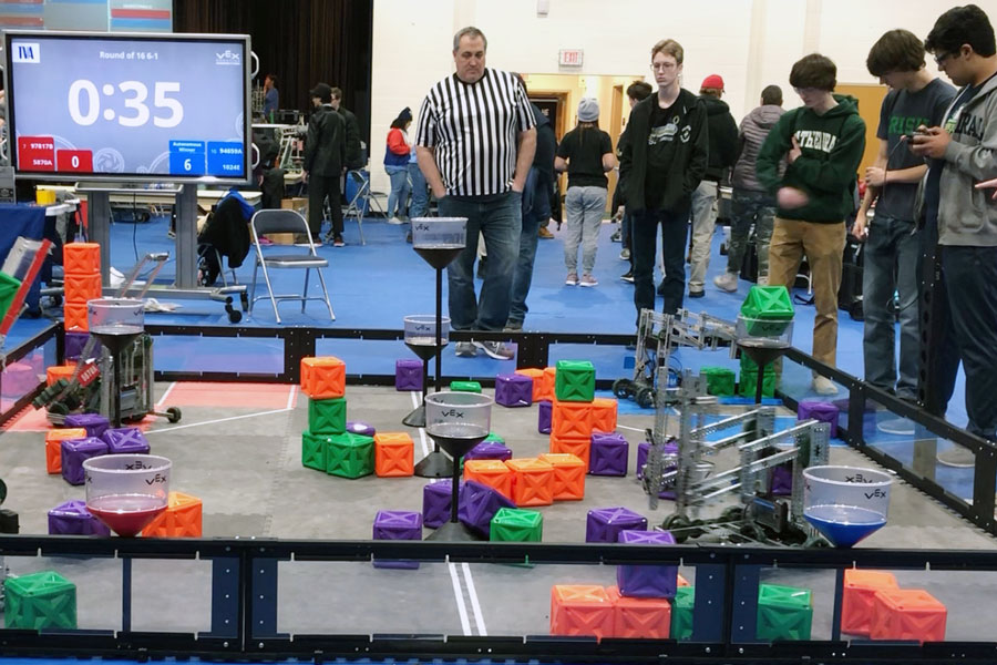 Physics teacher Mr. Jimmy Miller provided a photo of a previous year's CTEC robotics competition.