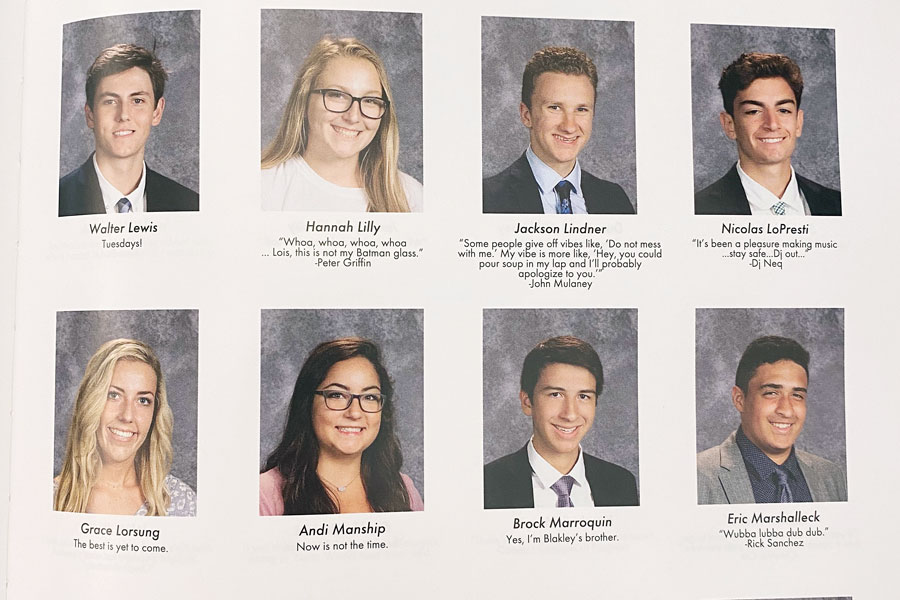 Senior quotes are a tradition in each year's Cathedran yearbook.