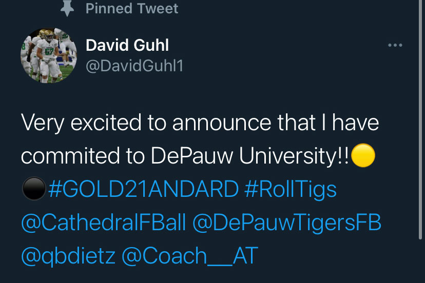 Senior+David+Guhl+used+social+media+to+announce+his+commitment+to+DePauw.+