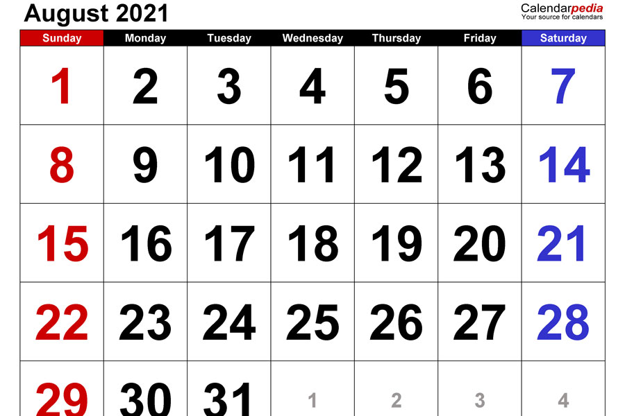 Administration releases next year's school calendar