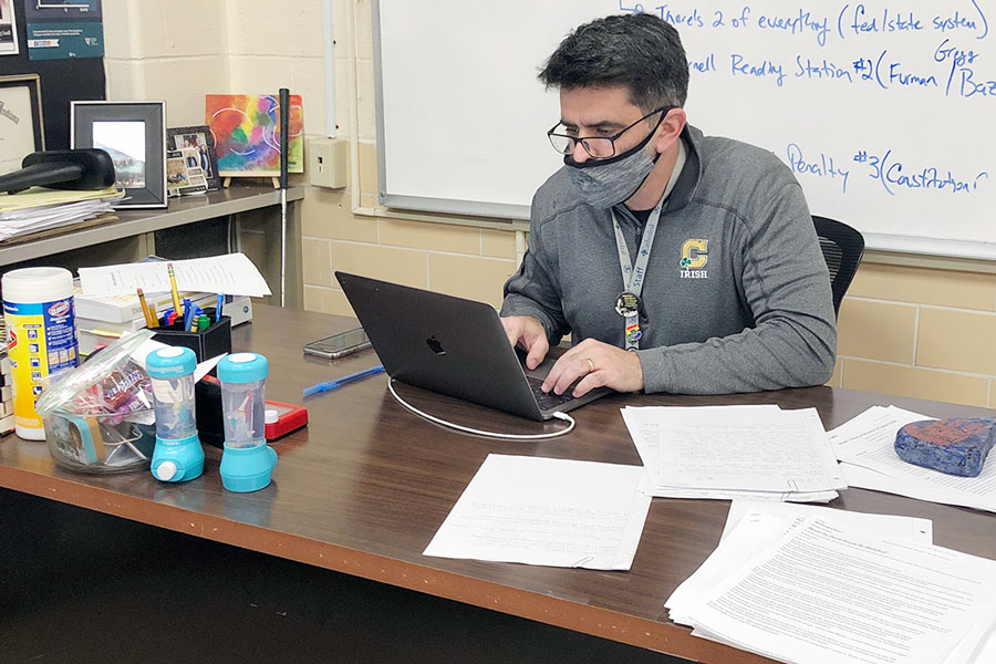 Social studies teacher Mr. Criag Blanchet said he sees both advantages and disadvantages if the federal minimum wage were to be raised to $15 an hour.