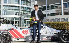 As a race car driver, junior lives life in the fast lane