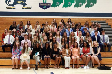 New members of the National Honor Society participated in the induction ceremony on April 11 in the Welch Activity Center.