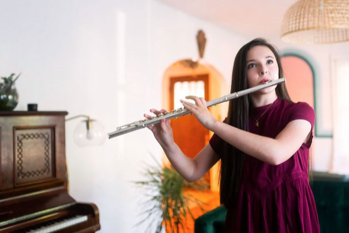 Junior Amelia DeSanto has been selected to perform in the state honor band.