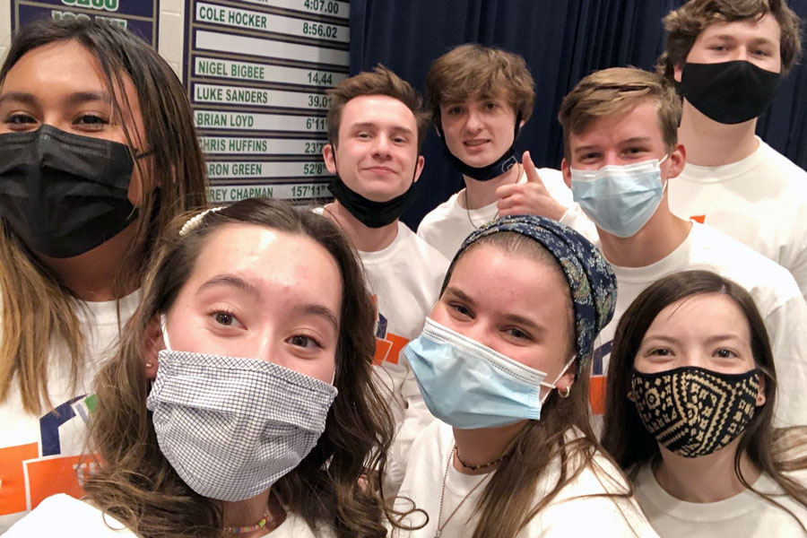 For service hours, several seniors volunteered their time at the annual Trivia Night fundraiser.