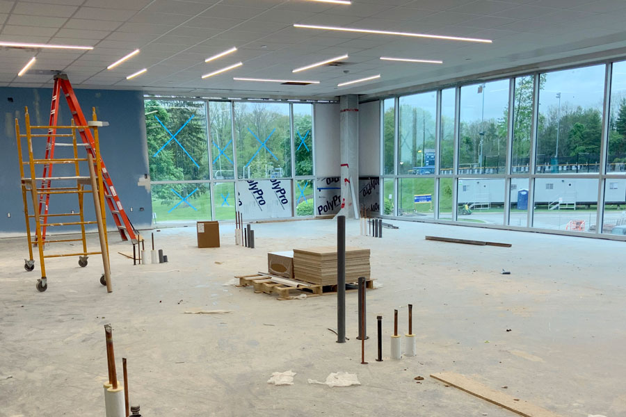 Efficient LED lighting has been installed in the new Innovation Center.