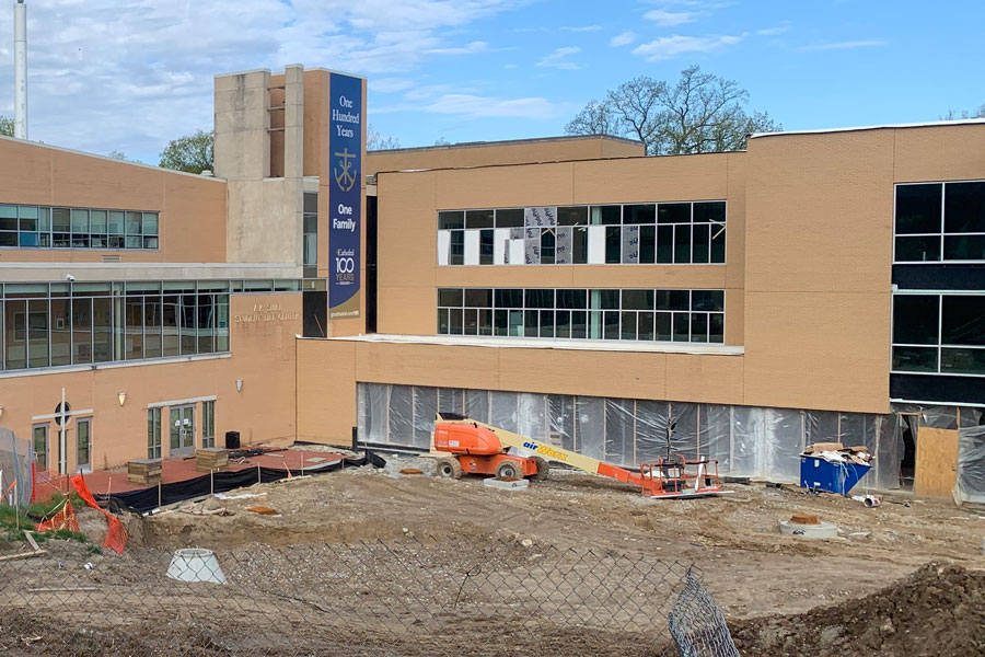 Work on the Innovation Center will be the cause of a campus wide power outage on May 15.