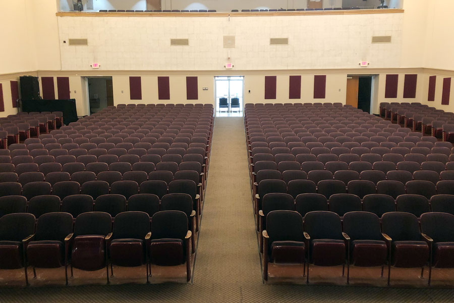 Unlike last year due to Covid, actors and the stage crew expect these seats in the auditorium to be filled this year for various Catheatre productions.