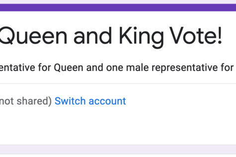 Students should check their email for their Homecoming king and queen ballot.