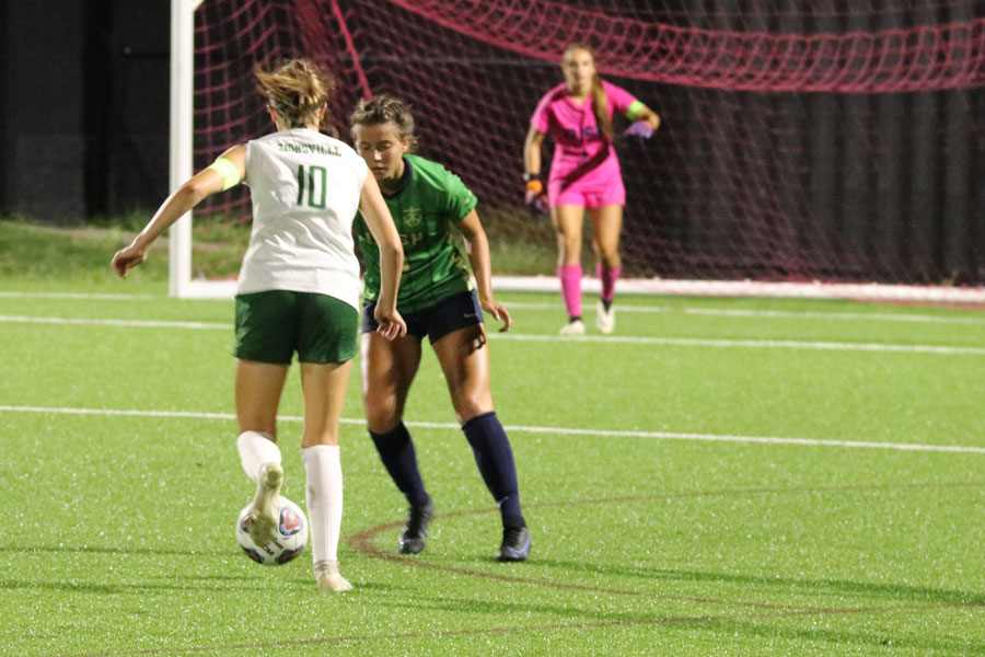 The womens soccer team, in action earlier this season, is gearing up for the City tournament.