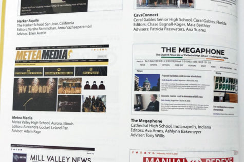 The Megaphone website is one of 42 online student newspapers from across the nation featured in the National Scholastic Press Associations 2021 edition of The Best of the Student Press.