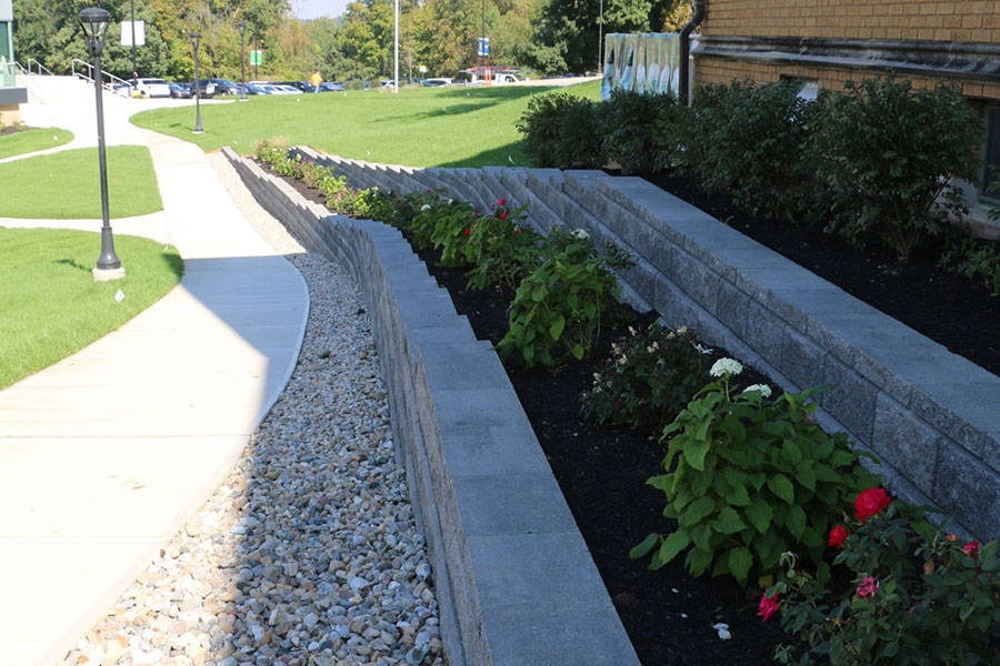 The landscaping in the courtyard and in front of Loretto Hall is part of a three-phase plan to improve the look of the campus, according to Chief Operating Officer Mr. Rolly Landeros.