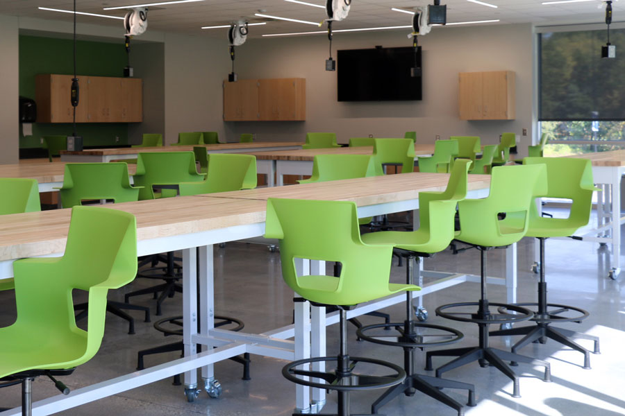 While they were vacant at the start of the school year, the labs in the new Innovation Center are now being used every day by both STEM teachers and students.
